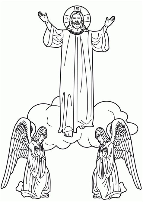Holy Family Coloring Pages - Coloring Home
