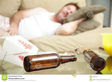 Guy Passed Out At Home Stock Image - Image: 35437211