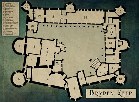 Bryden Keep: A map I made, forgot about, and rediscovered