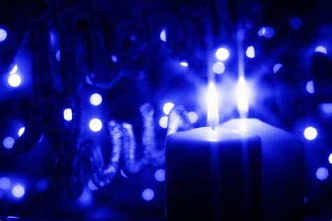 Our World with Type 1 Diabetes: A blue candle is lit - a