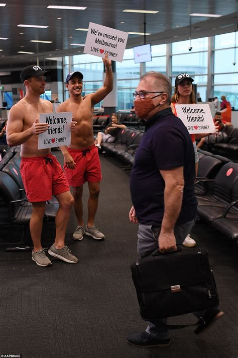 Moment shirtless crowds welcome the first arrivals as NSW
