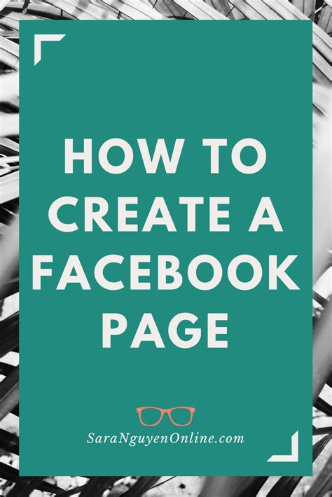 How to create a Facebook Page - Sara Nguyen