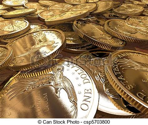 Gold dollars coins