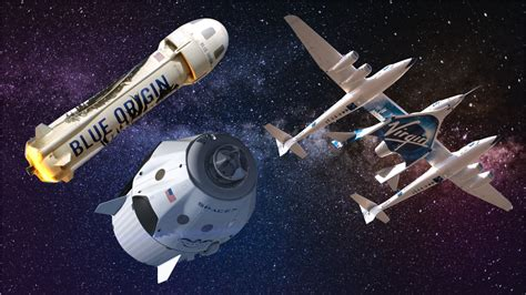How SpaceX, Blue Origin, and Virgin Galactic plan on