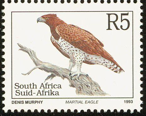 Martial Eagle stamps - mainly images - gallery format