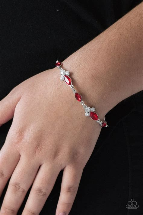 Paparazzi Accessories - At Any Cost - Red Bracelet   JMJ