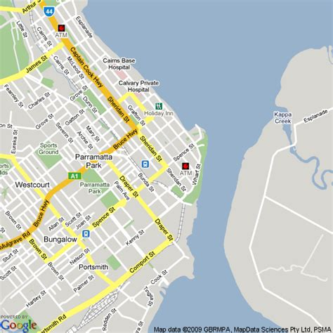 Map of Cairns, Queensland | Hotels Accommodation