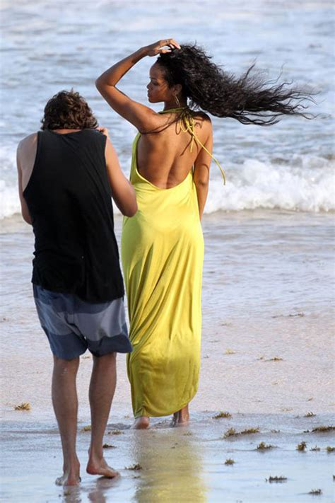 RIHANNA Filming an AD on the Beach in Barbados – HawtCelebs