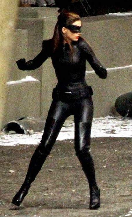 Celebrity Leather Fashions: Anne Hathaway - Catwoman