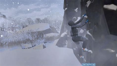 Learn Rock Climbing in The Sims 4 Snowy Escape - Sims Online