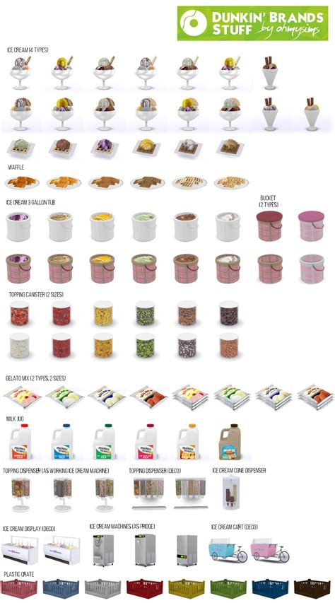 My Sims 4 Blog: DunkSim Donuts and Simskin Robbins Lot and