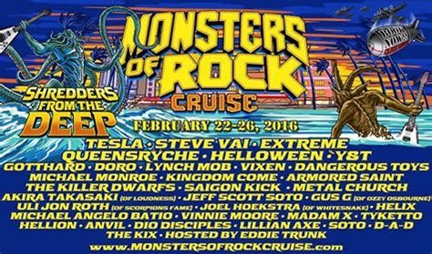 Monsters of Rock Cruise E - 22/02/2016 (5 days) - Miami