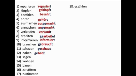 Working with the perfect tense in German - www