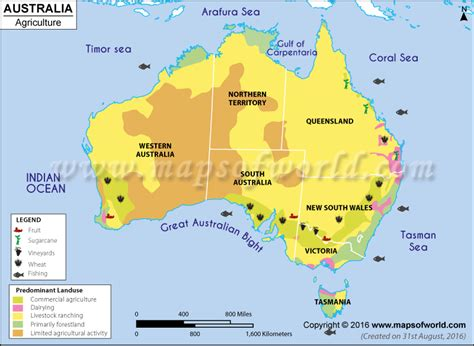 Agriculture Map of Australia